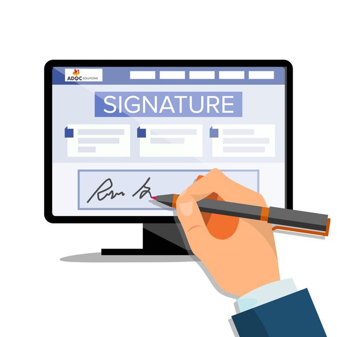 Processus de signature électronique ADOC Solutions