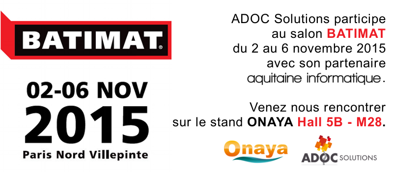 ADOC Solutions participe au salon Batimat 2015