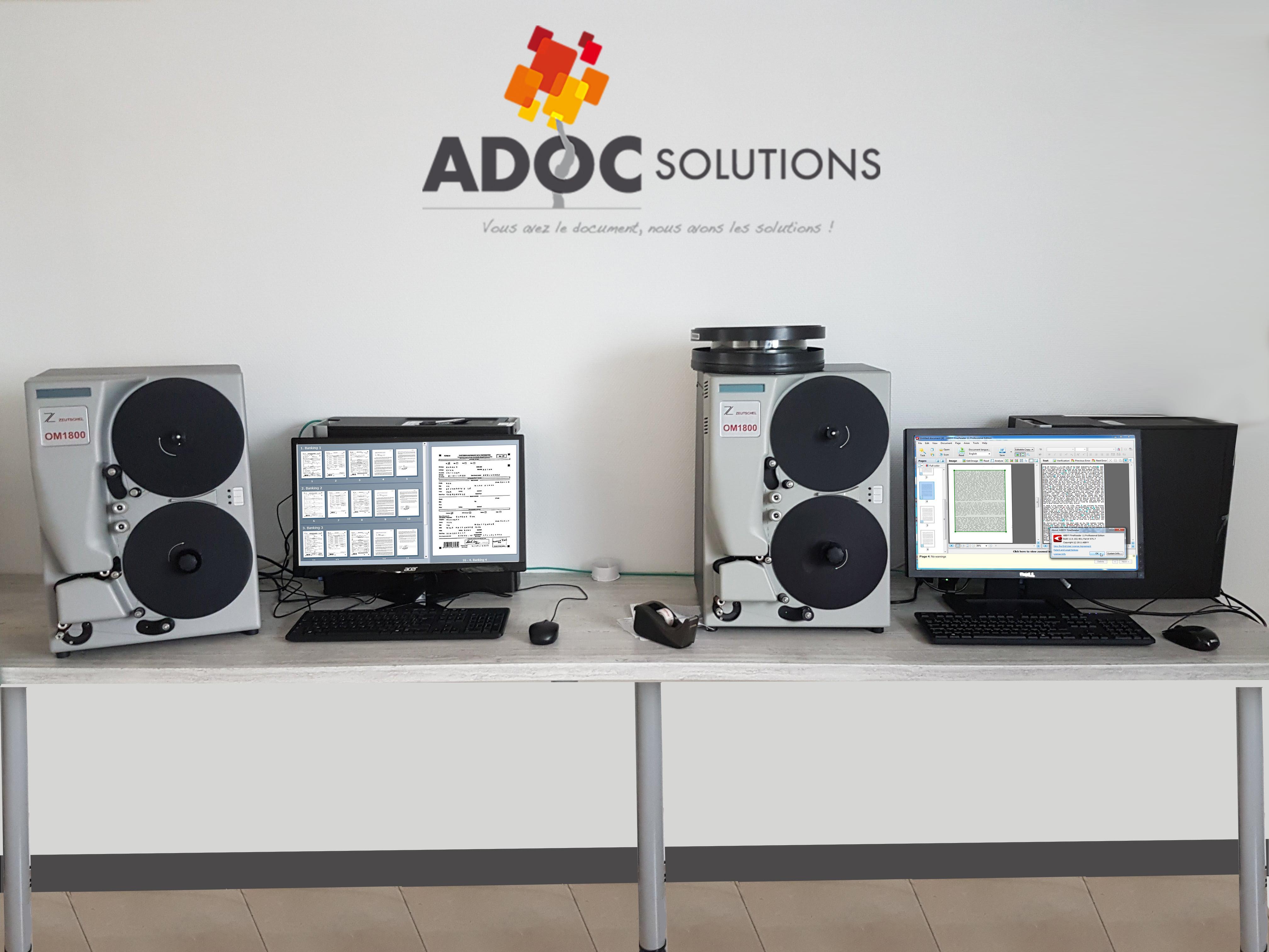 Numérisation de microfilms ADOC Solutions