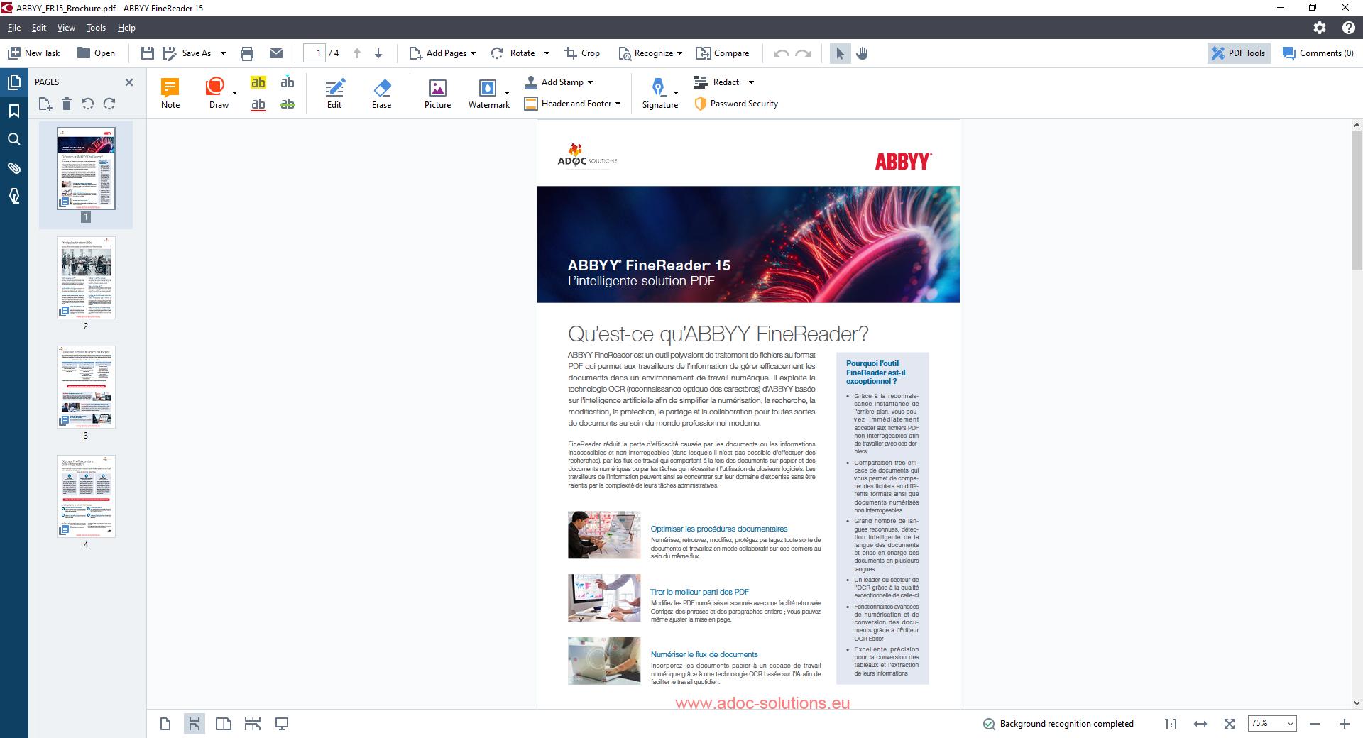 ADOC Solutions Présentation ABBYY Finereader